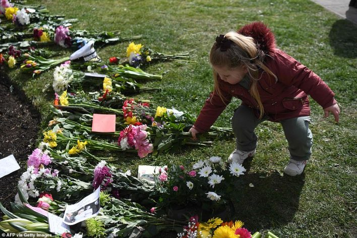 Flowers and tributes to Prince Philip have continued to be placed outside the gates of both Buckingham Palace and Windsor Castle, two days after his death