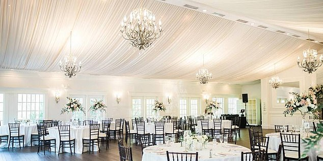 Luxury venue charges between $ 4,000 and $ 7,500 for ceremonies, according to estimated prices online