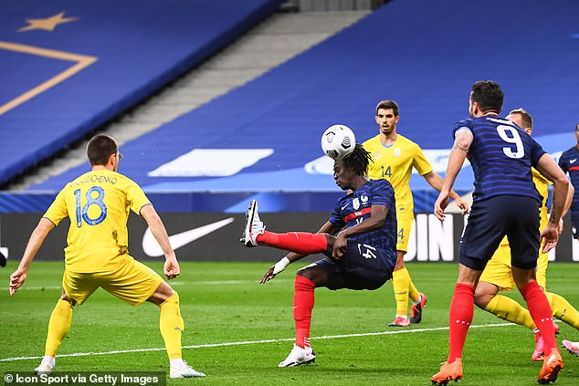 Camavinga has been capped three times by France and scored a bicycle kick against Ukraine