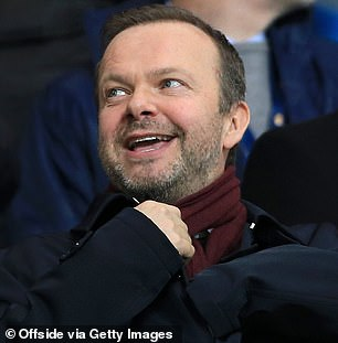 United (pic executive vice-chairman Ed Woodward) are reluctant to get embroiled into another transfer saga with the Bundesliga club