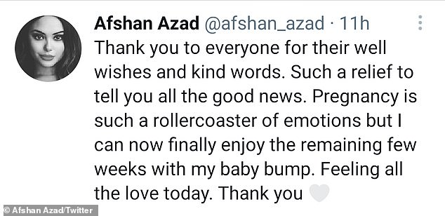 Gratitude is a must: She also took to Twitter to express her gratitude after breaking the news on the microblogging platform at the same time.