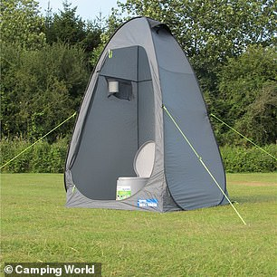 Camping toilets, pop-up tents with potty-like commodes that sell for as little as £20, are becoming more desirable