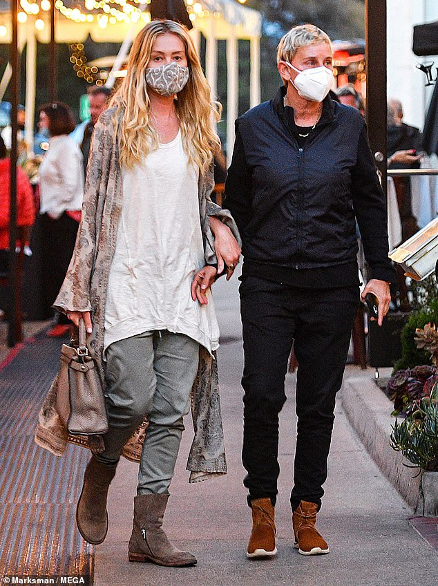 Date night! Ellen DeGeneres and Portia de Rossi went out for a rare public date in Montecito, California early Sunday night