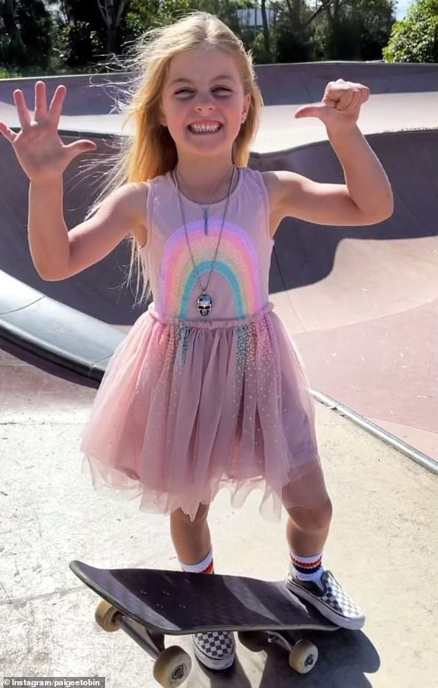 What a pro! Six-year-old Paige Tobin from Australia has been skateboarding since she was just two years old