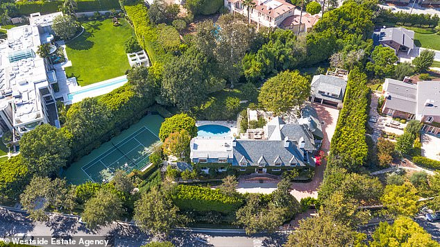 90210: The couple bought the estate from The Voice coach Adam Levine in 2019 for $ 45 million