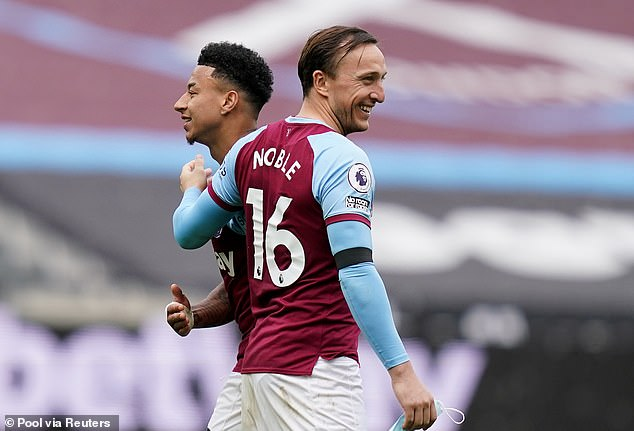 Mark Noble has been forced to open his wallet after a bet made between him and Jesse Lingard