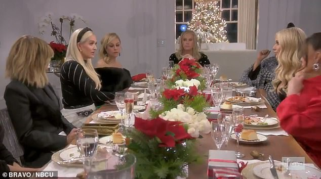 Table stretched: Erika is questioned by the housewives on her divorce and her legal drama