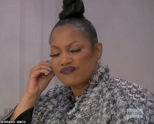 You don't buy it?  Garcelle frowns as Erika begins to tell her side of the story