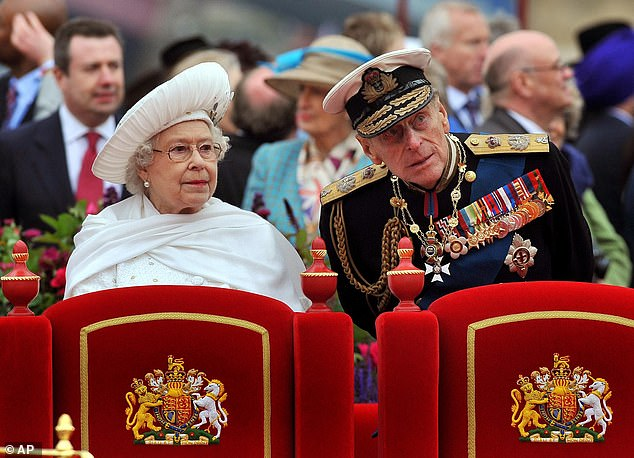 On the day of the Diamond Jubilee, in 2012 (pictured), Mum rang me to say: 'I've just seen your friend on television, on top of Buckingham Palace'