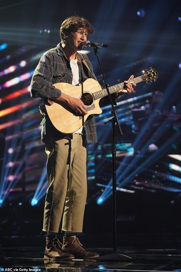 Promise: On Sunday night's pre-recorded episode of American Idol, Pike went from the top 16 to the top 12 after performing Use Somebody by Kings of Leon