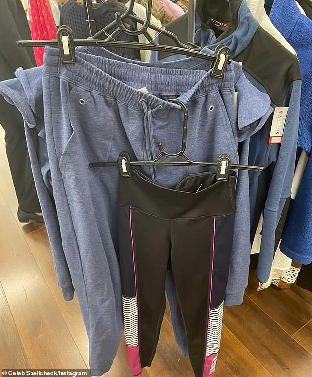 Hers? Rebecca was caught allegedly donating items to her local charity store from Yummy Mummy star Lorinska Merrington's new Royale loungewear range just days after promoting them on Instagram