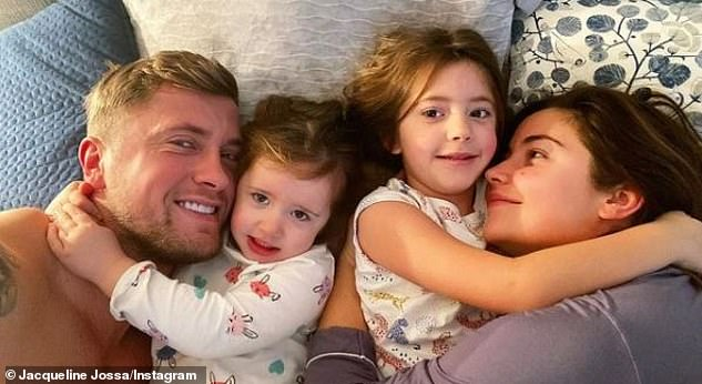 Drama: Days earlier, the mother-of-two admitted the toll of the house move caused her stress as she recounted how things 'keep going wrong' (pictured with daughters Ella and Mia)