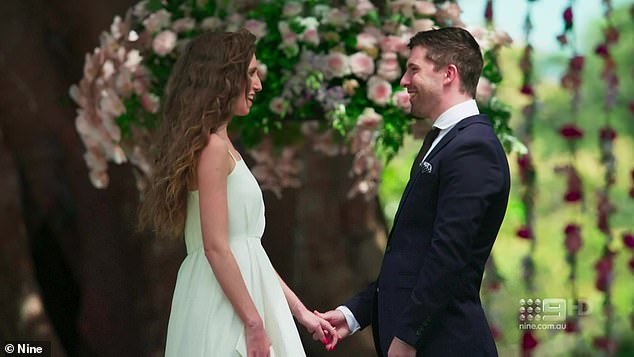 True love: Patrick and Belinda got their happy ending on Tuesday's episode of Married At First Sight as the pair professed their love for each other at their final vows