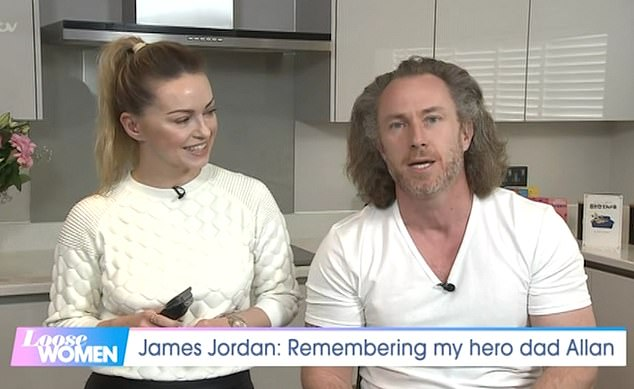 Great hair:James explained that he wanted to do 'something positive' in memory of his father, and that the sadness from losing him 'comes in waves'