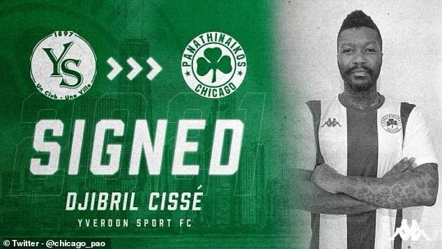 Djibril Cisse ha fichado por el Panathinaikos Chicago de cuarta división estadounidense
