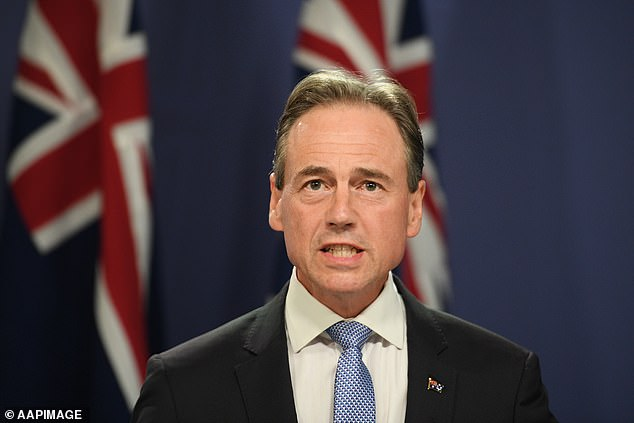 `` If the whole country were vaccinated you couldn't just open the borders, '' Greg Hunt (pictured) said on Tuesday.