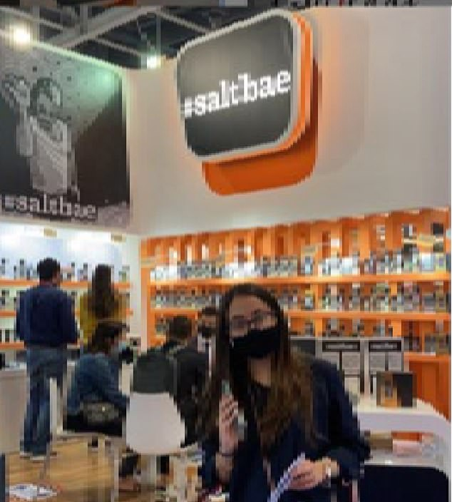 The products were even marketed at Gulfood 2021, an annual food and drink exhibition held in Dubai.  Salt Bae's booth at the exhibit even included a `` prominent large printed graphic, '' according to the costume.