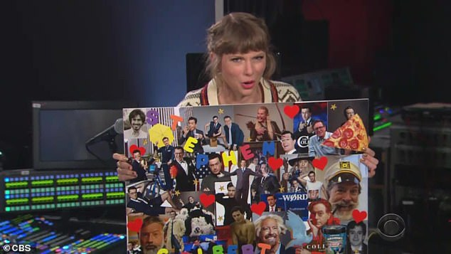 Slice of pizza: 'No.  It's pizza, '' Taylor said, pointing to a photo on the one hand after Stephen said all of the photos in his old `` mood board '' were of him.