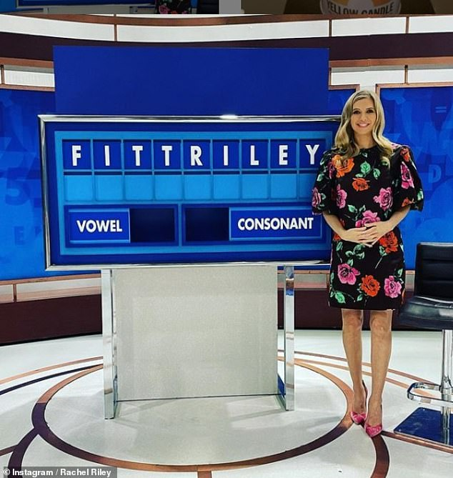 Baby news!Rachel announced she was expecting her second child by unveiling the news with a hilarious Countdown conundrum on Wednesday