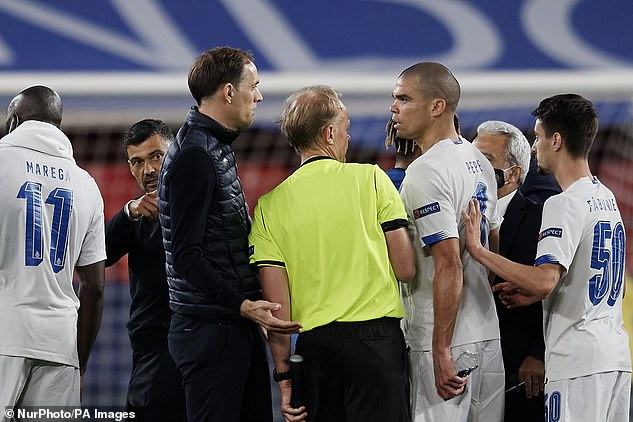 Defender Pepe took issue with the Chelsea head coach after having heard the allegations