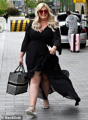 Next up: The voluptuous TV personality, 40, has already lost three impressive stones after embarking on a new health and fitness journey at the turn of the year (pictured in 2019)