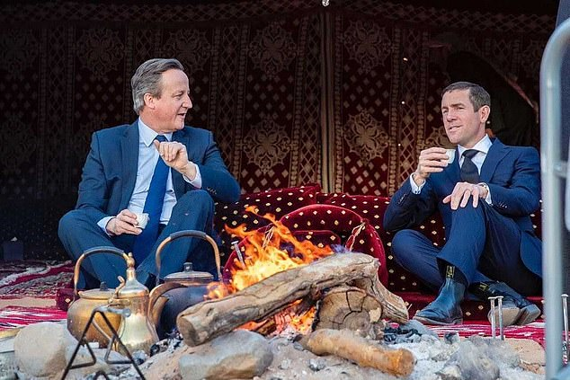 The Treasury's probe will almost certainly examine how Lex Greensill enjoyed such access to the heart of government during the Cameron administration (pair pictured in Saudi Arabia in 2020)