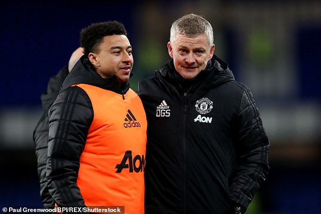 Ole Gunnar Solskjaer (right) revealed he wants Lingard back at Manchester United next season