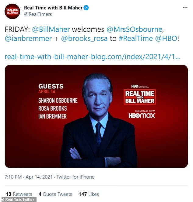 Official: The American TV show tweeted the lineup Thursday, with rocker Ozzy Osbourne's wife headlining, alongside fellow guests Rosa Brooks and Ian Bremmer