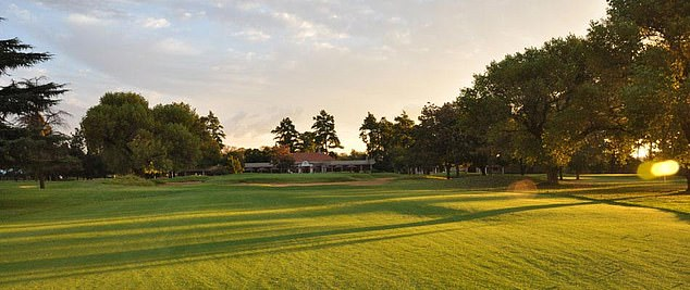 Golf course manager Deon Kruger said he had written to the school to express disapproval over the incident (pictured,Maccauvlei Golf Club, Vereeniging, South Africa)