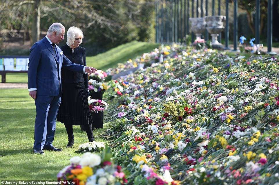 Prince Charles was accompanied by Camilla, the Duchess of Cornwall, to Marlborough House in London this morning