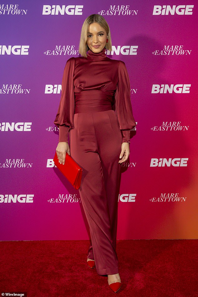 Making an appearance:Former Miss Universe Australia Olivia Molly Rogers also attended the star-studded event