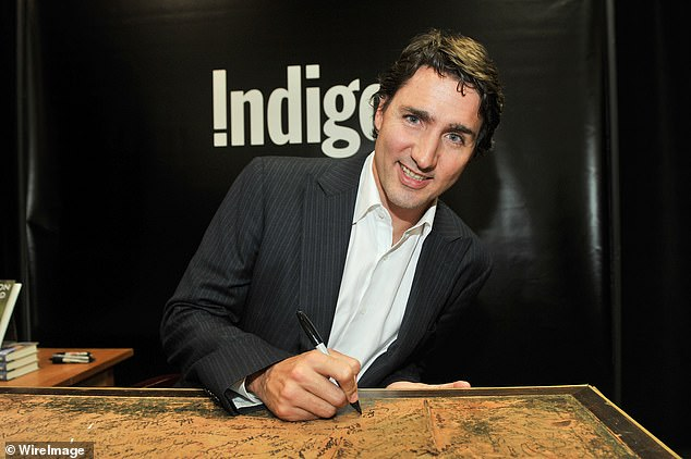 2014: Justin Trudeau at a signing even in at Indigo Manulife Centre on October 20, 2014 in Toronto, Canada