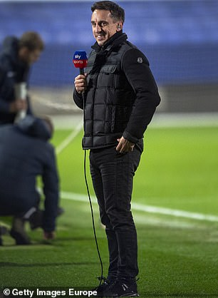 Neville in his role as a Sky Sports pundit
