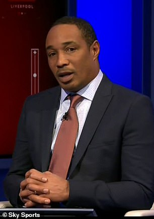 Ince working as a pundit on Sky Sports