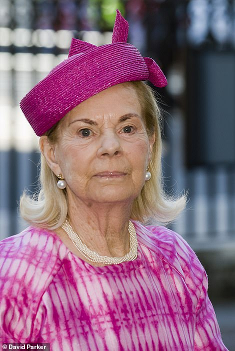 The Duchess of Kent attending a service of thanksgiving at Westminster Abbey in Honour of the 60th anniversary of the Coronation of The Queen