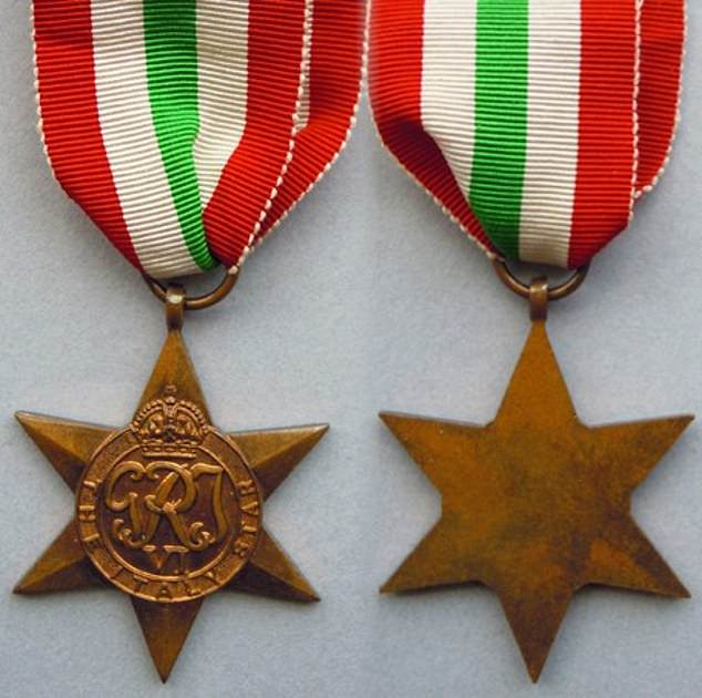 Italy Star: The Italy Star was awarded for Prince Phillip's service in Italy and surrounding areas in the Second World War