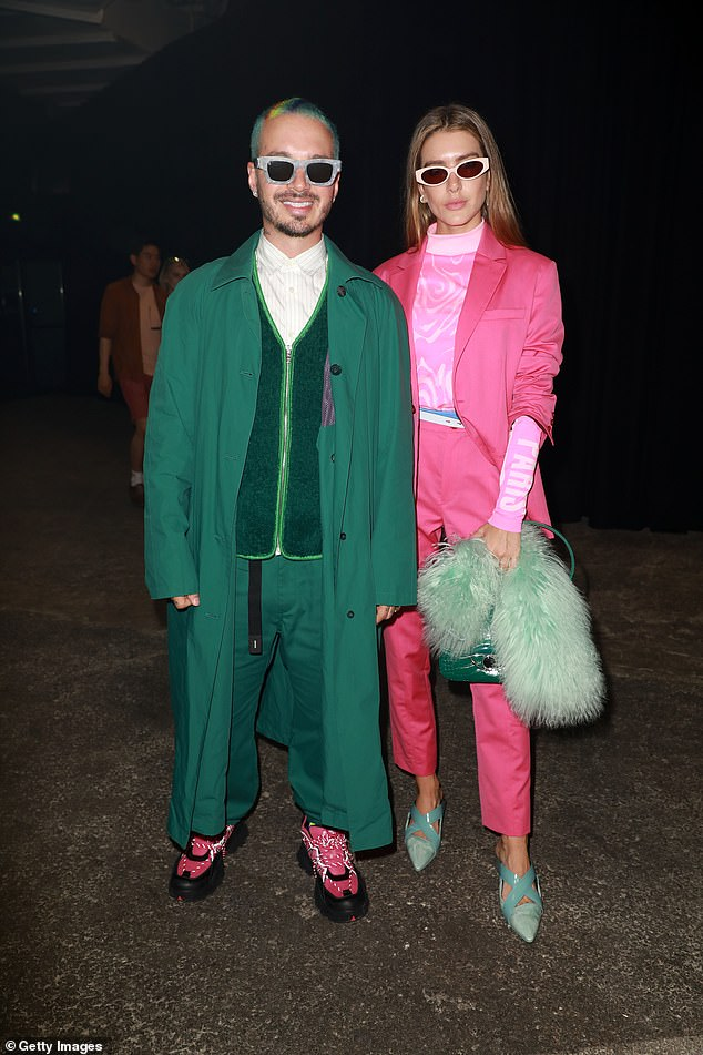 Duo: Fans suspected the news of the baby when the model was spotted in February 2021 in what appeared to be a baby bump;  seen on June 23, 2019 at Paris Fashion Week