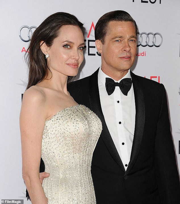 Divorce: Contrary to his professional achievements, Brad has been embroiled in a bitter divorce battle with his ex-wife and fellow Oscar winner Angelina Jolie;  Angelina and Brad pictured in 2015
