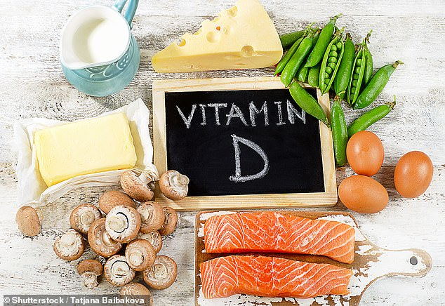 The so-called 'sunshine vitamin' - also found in foods like oily fish, egg yolks, cheese, and mushrooms - has long been known to play a role in bone strength (stock image )