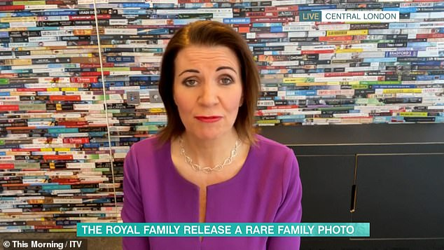 Dig: Julia said: 'I wonder if Meghan managed to take offense at this photo because it doesn't include her son, she probably thinks it's a racist photograph'