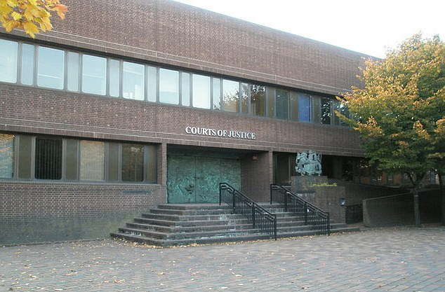 Tobias Powell, 32, used Twitter to claim a 'civil war' was needed 'to stop the ethnic suicide of white people'. He is due to be sentenced at Portsmouth Crown Court (pictured) next month