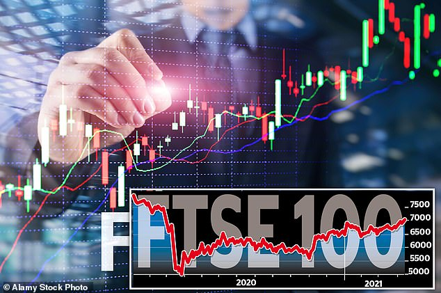 FTSE 100 powers through 7000 mark for first time in a year