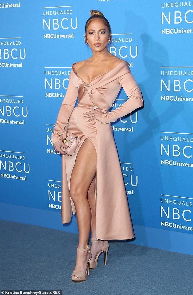 Jennifer Lopez at the NBC / Universal Upfront Presentation in New York City, May 2017