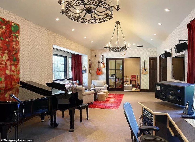 On brand:Back when Alex Van Halen had the home constructed for himself he made certain it included a music studio, which is just one of the home's many ultra-luxe amenities