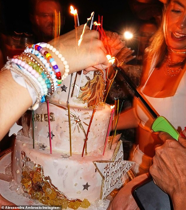 Tasty: Longtime Victoria's Secret Angel Received Three Tier Cake For Her 40th