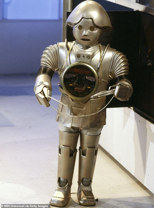 Flashback: Felix also portrayed an Ewok in the 1983 Star Wars movie Return Of The Jedi and a robot on Buck Rogers in the 25th century (pictured) from 1979 to 1981