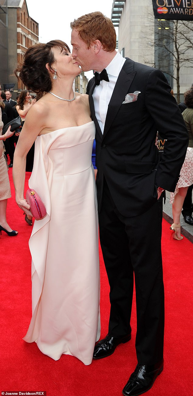 Love: Helen McCrory's husband Damian Lewis announced she lost her life after a 'heroic' battle with cancer aged 52 on Friday. Here we look at their incredible relationship (pictured 2013)