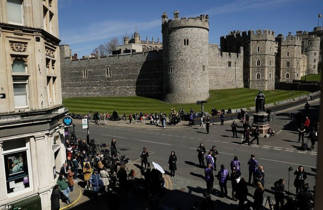 Windsor Castle dominates the centre of the town - but crowds are much smaller than usual due to the ongoing pandemic