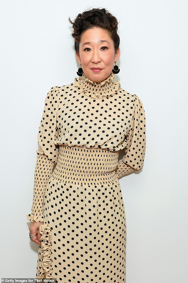 Oh dear:Sandra Oh reportedly called police after $150,000 worth of jewellery went missing from her LA home only to find the valuables at the property the next day