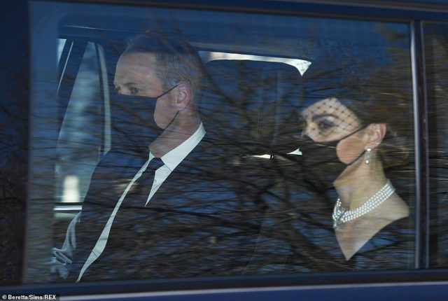 William and Kate leave Kensington Palace ahead of their first meeting with Prince Harry for more than a year following the turmoil of Megxit